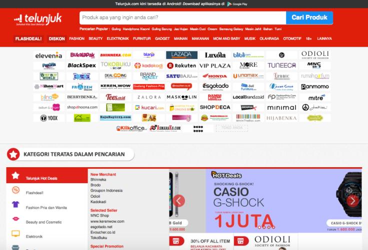 Fitur pencarian dan membandingkan harga di Telunjuk.com membantu kita untuk mendapatkan harga yang terbaik.